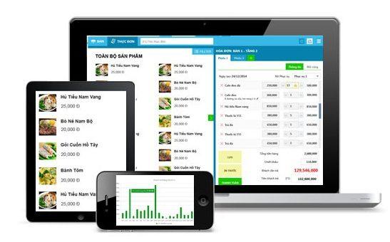 Phần mềm quản lý bán hàng, nhà hàng Online KiotViet
